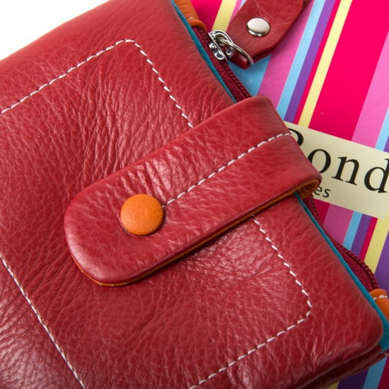 Женский кожаный кошелек dr.Bond WRN-1 красный