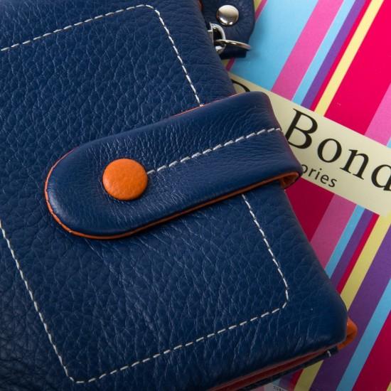 Женский кожаный кошелек dr.Bond WRN-1 синий