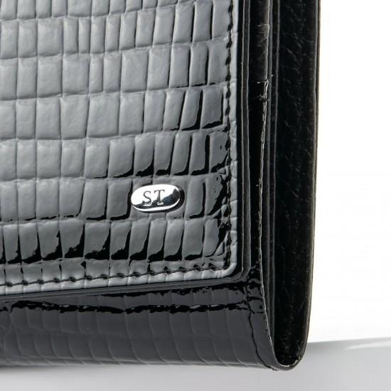 Женский кожаный кошелек SERGIO TORRETTI W501 черный