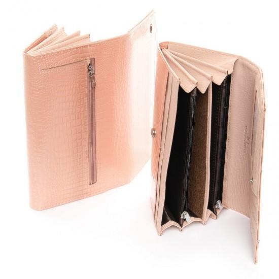 Жіночий шкіряний гаманець SERGIO TORRETTI W501 пудра