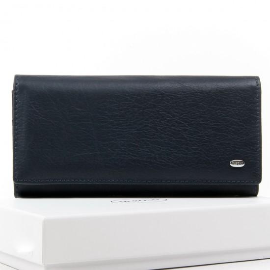 Женский кожаный кошелек dr.Bond Classic W501 темно-синий