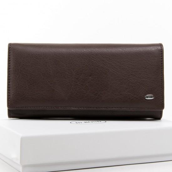Женский кожаный кошелек dr.Bond Classic W501 кофейный
