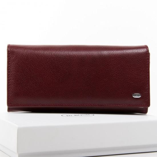 Жіночий шкіряний гаманець dr.Bond Classic W501 бордовий