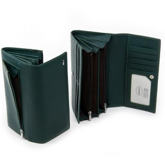 Жіночий шкіряний гаманець dr.Bond Classic W501 зелений