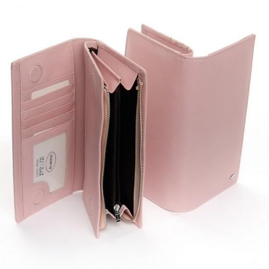 Жіночий шкіряний гаманець dr.Bond Classic WMB-3M пудра