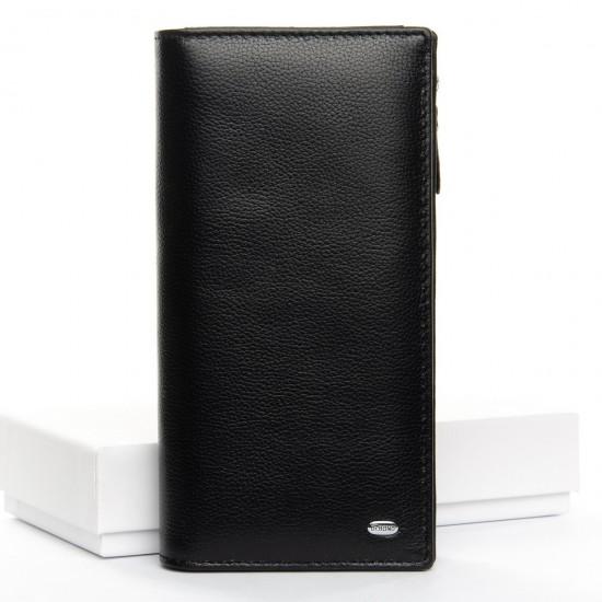 Жіночий шкіряний гаманець dr.Bond Classic WMB-3M чорний