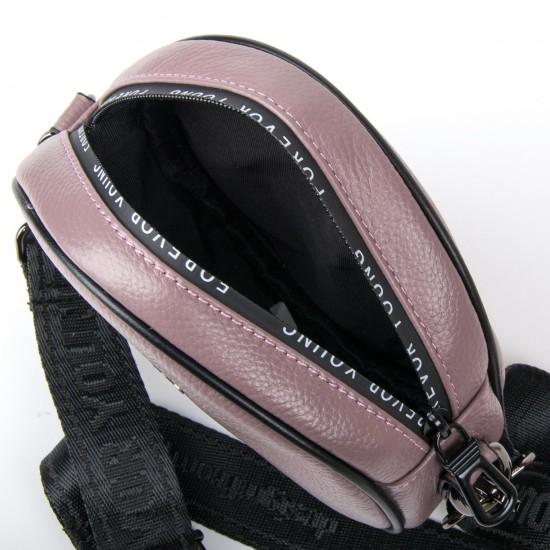 Жіноча сумочка-клатч з натуральної шкіри ALEX RAI 39032 ліловий