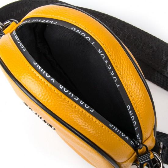 Жіноча сумочка-клатч з натуральної шкіри ALEX RAI 39032 жовтий