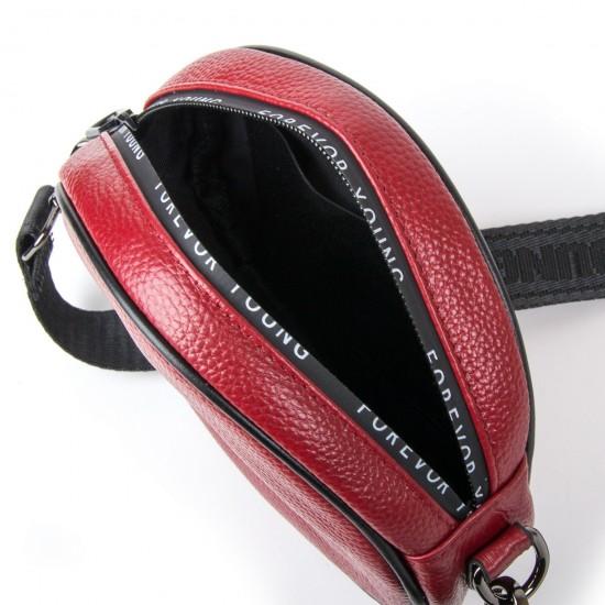 Женская сумочка-клатч из натуральной кожи ALEX RAI 39032 бордовый