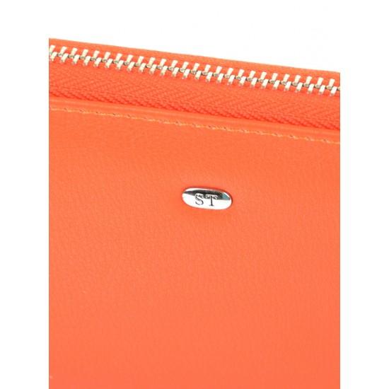 Женский кожаный кошелек SERGIO TORRETTI W38 оранжевый