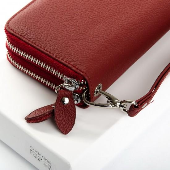 Жіночий шкіряний гаманець dr.Bond Classic W39-3 бордовий