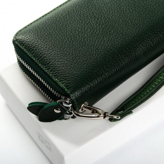 Женский кожаный кошелек dr.Bond Classic W39-3 зеленый