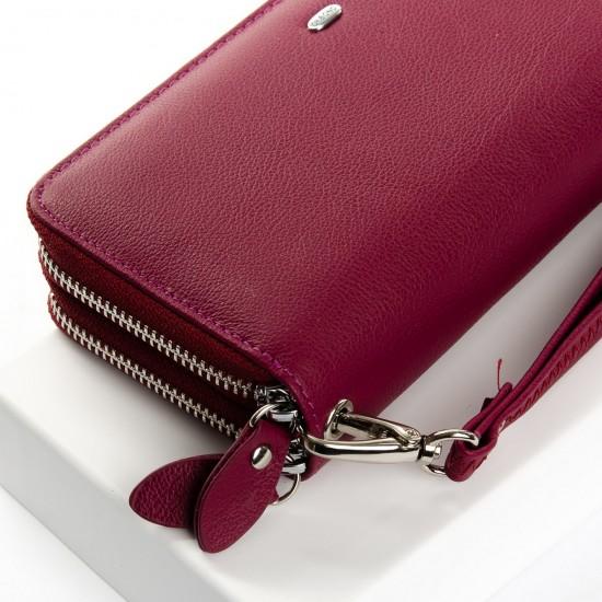 Женский кожаный кошелек dr.Bond Classic W39-3 розовый