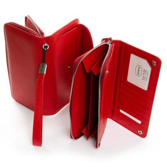 Жіночий шкіряний гаманець dr.Bond Classic WS-22 червоний