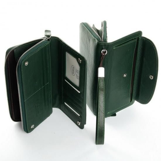 Жіночий шкіряний гаманець dr.Bond Classic WS-22 зелений