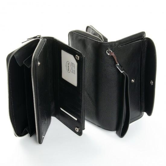 Жіночий шкіряний гаманець dr.Bond Classic WS-22 чорний