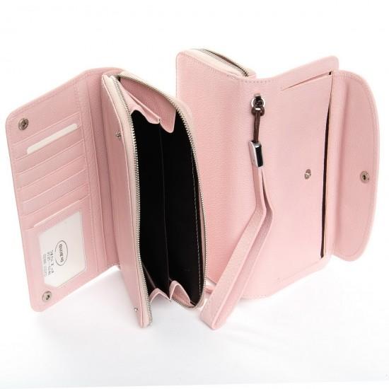 Женский кожаный кошелек dr.Bond Classic WS-22 пудра