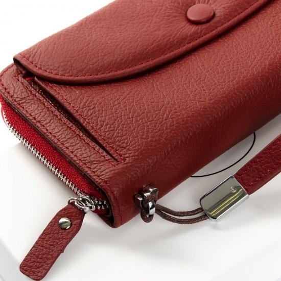 Жіночий шкіряний гаманець dr.Bond Classic WS-22 бордовий