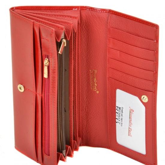 Жіночий шкіряний гаманець ALESSANDRO PAOLI W0807 червоний