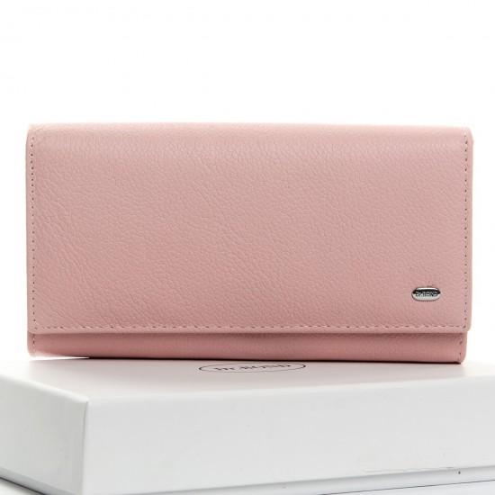 Жіночий шкіряний гаманець dr.Bond Classic W46 пудра