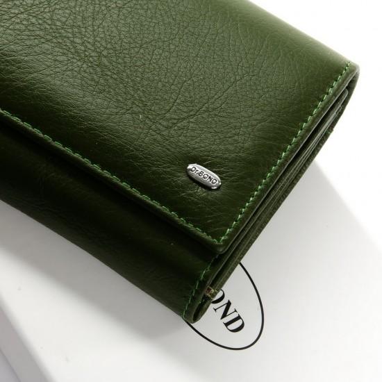 Женский кожаный кошелек dr.Bond Classic W46 зеленый