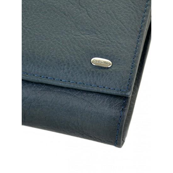 Жіночий шкіряний гаманець dr.Bond Classic W46 темно-синій