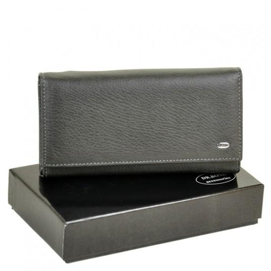 Женский кожаный кошелек dr.Bond Classic W46 серый
