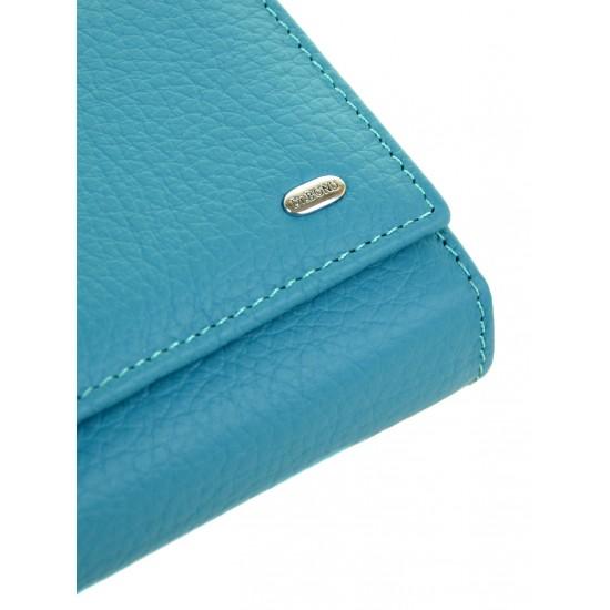 Женский кожаный кошелек dr.Bond Classic W46 бирюзовый