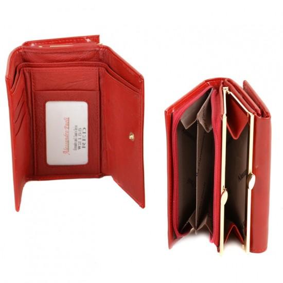 Жіночий шкіряний гаманець ALESSANDRO PAOLI W2155 червоний