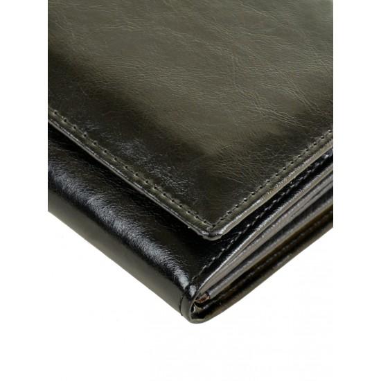 Женский кожаный кошелек ALESSANDRO PAOLI W1 черный