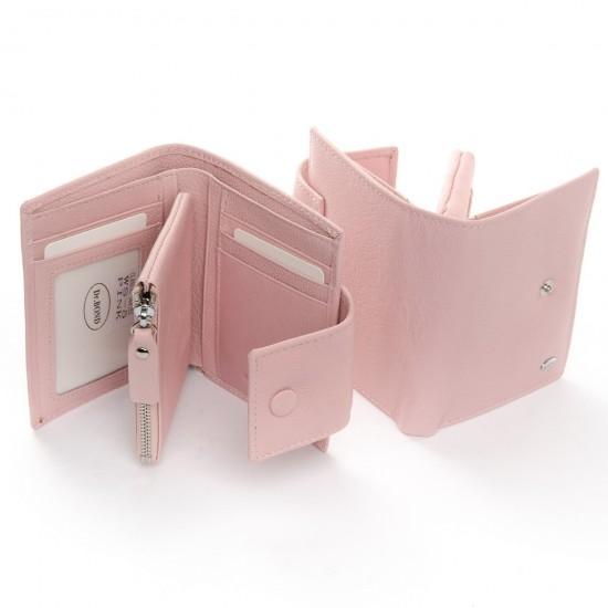 Женский кожаный кошелек dr.Bond Classic WS-5 пудра