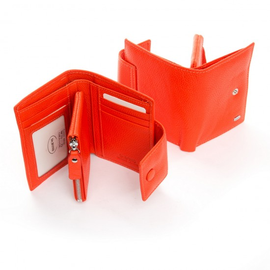 Жіночий шкіряний гаманець dr.Bond Classic WS-5 помаранчевий