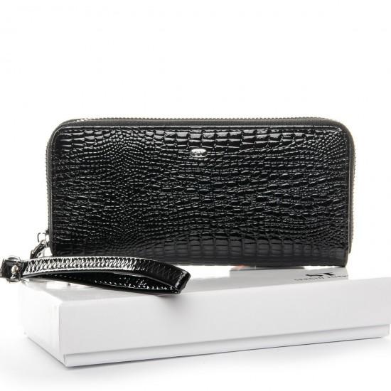 Женский кожаный кошелек SERGIO TORRETTI W38 черный