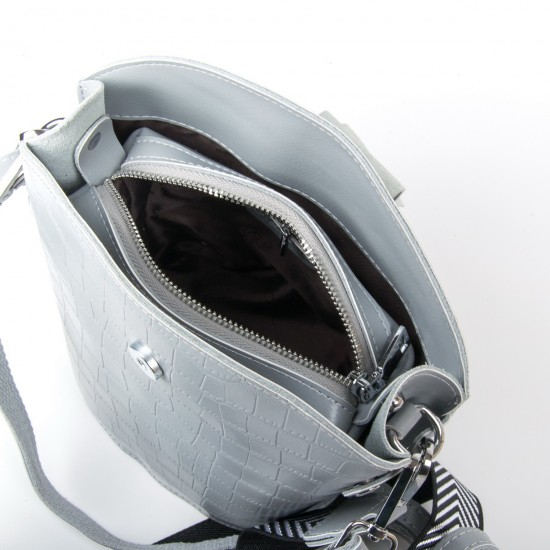 Жіноча сумочка з натуральної шкіри ALEX RAI 2237 сірий