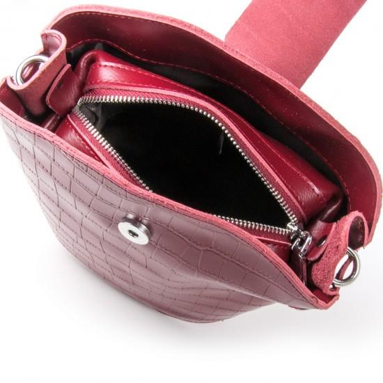 Жіноча сумочка з натуральної шкіри ALEX RAI 2237 бордовий