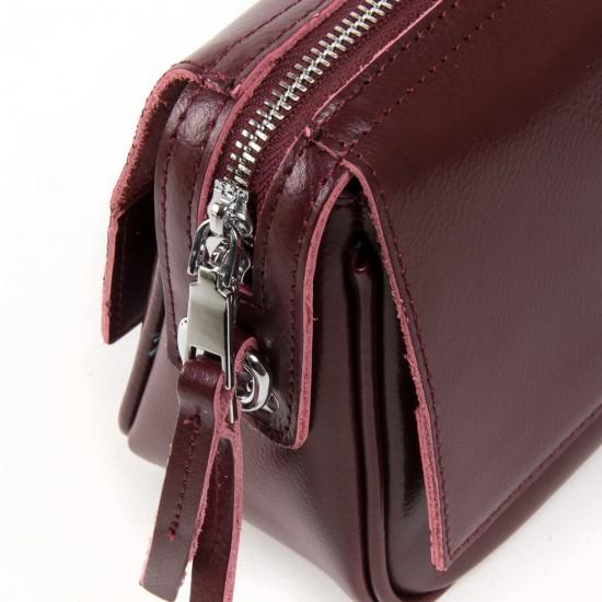 Женская сумочка из натуральной кожи ALEX RAI 2227 бордовый