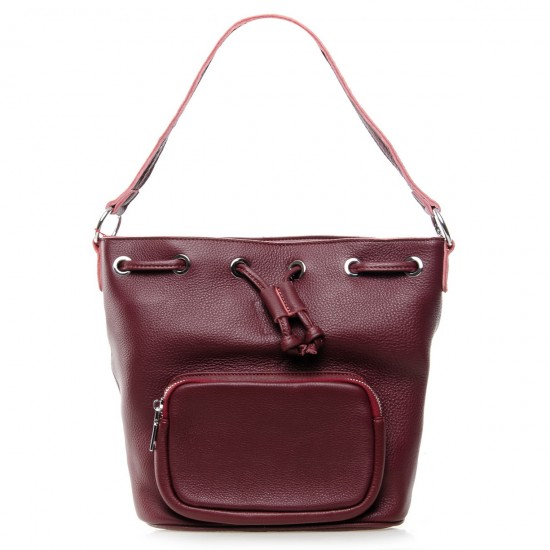 Женская сумка из натуральной кожи ALEX RAI 7110 бордовый