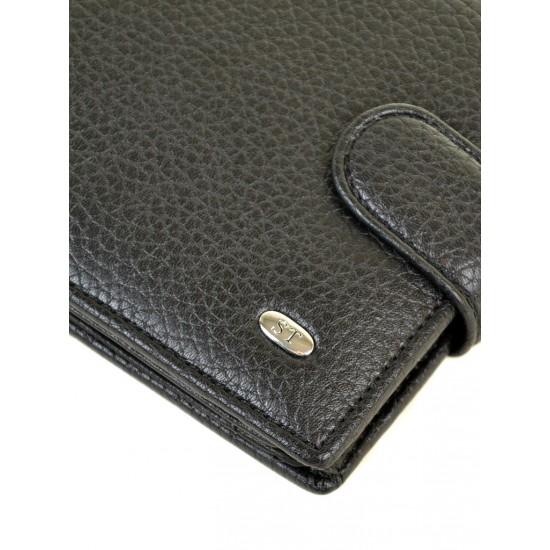 Мужской кожаный портмоне SERGIO TORRETTI M53 черный