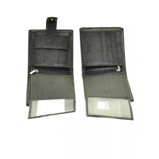 Мужской кожаный портмоне dr.Bond M53 черный