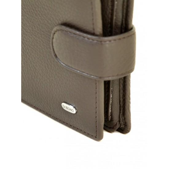 Мужской кожаный портмоне dr.Bond M53 кофейный