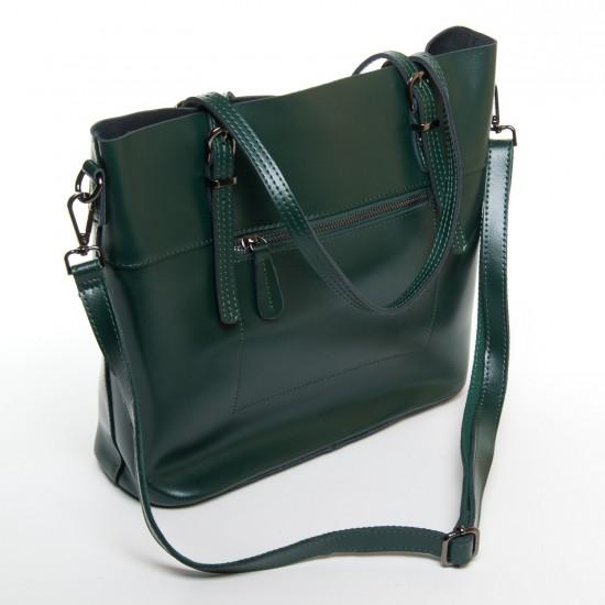 Жіноча сумка з натуральної шкіри ALEX RAI 8603 зелений
