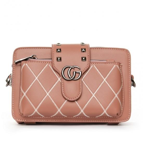 Женская сумочка-клатч FASHION 3800 пудра