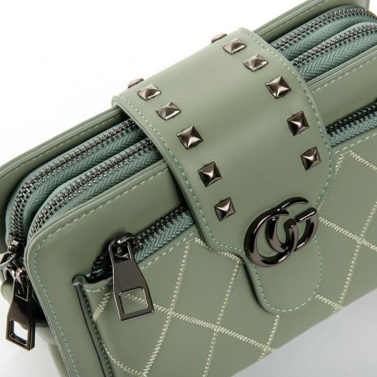 Жіноча сумочка-клатч FASHION 3800 м'ятний