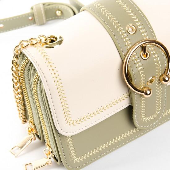 Жіноча сумочка-клатч FASHION 12081 м'ятний