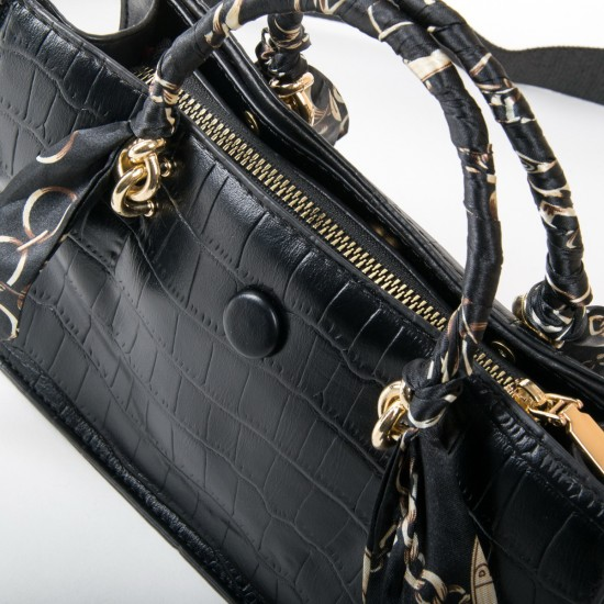 Жіноча сумочка на три відділення FASHION 237 чорний