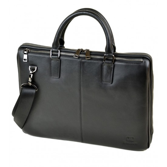 Деловая сумка-портфель из натуральной кожи Bretton 1599-1 черный