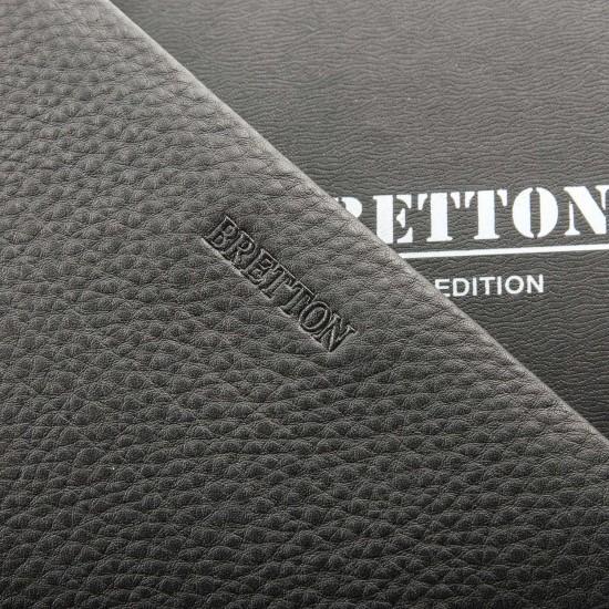 Мужской большой кожаный кошелек-барсетка Bretton 162-5 черный
