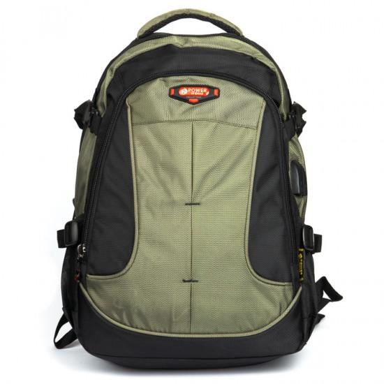 Міський рюкзак Power In Eavas 9648 чорний + зелений