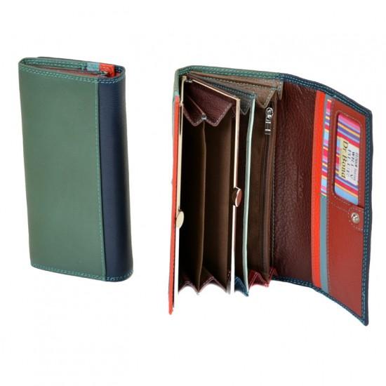 Жіночий шкіряний гаманець dr.Bond Rainbow WR1-V синій