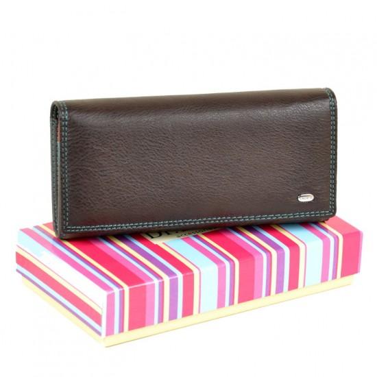 Жіночий шкіряний гаманець dr.Bond Rainbow WR1-V кавовий